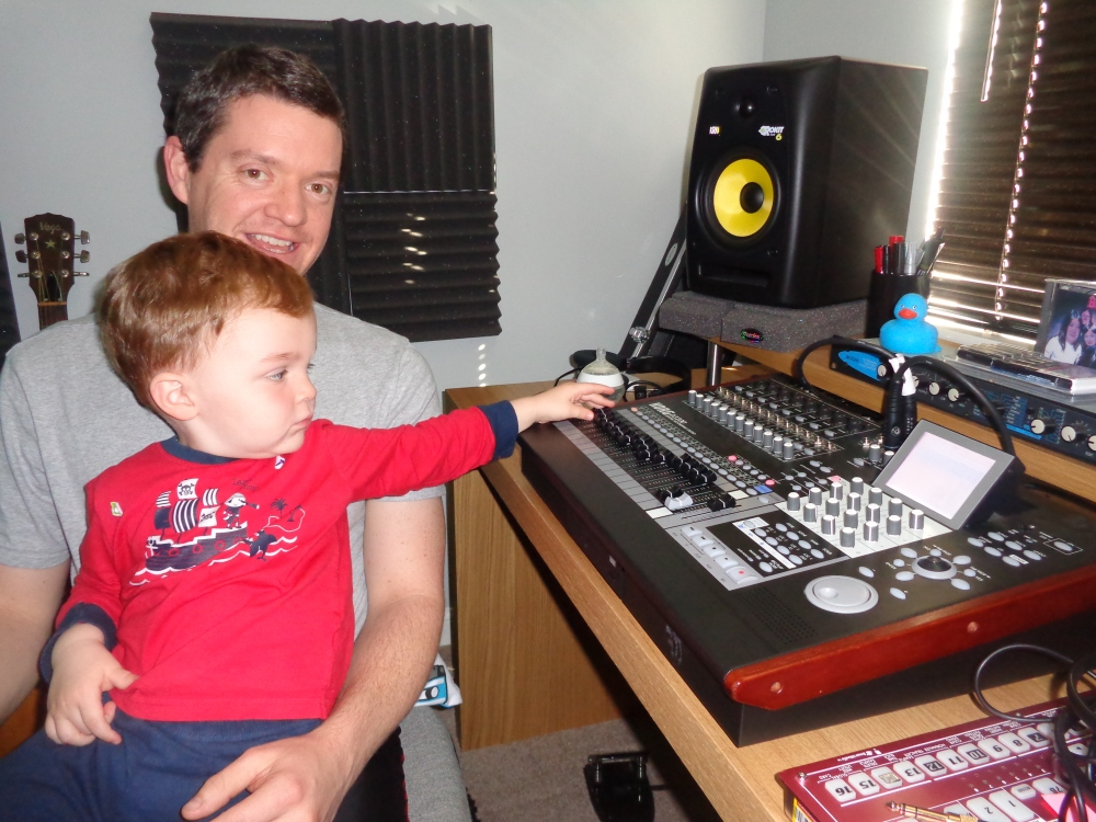 Lewis helps Pabs mix the Lost Tracks