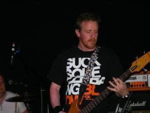 Greg slams the bass