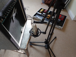 went with the sm57 for stus distortion it could handle the pressure!
