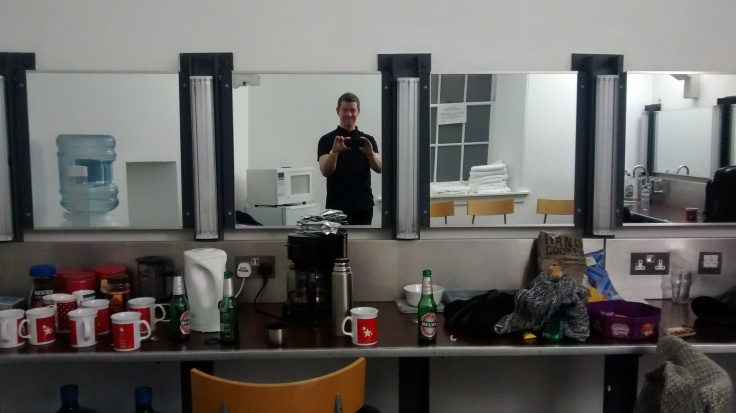 alone back stage time to burn...