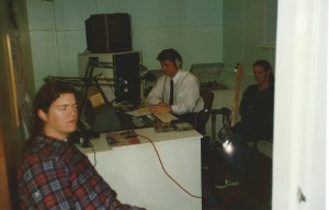 A rare picture of us doing a lost recording for the Falkirk hospital.