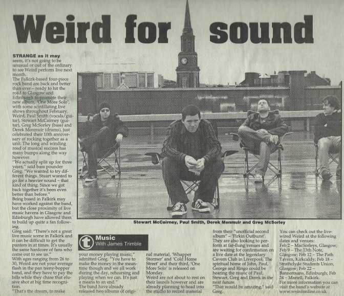 Weird Decibels and the Falkirk Herald