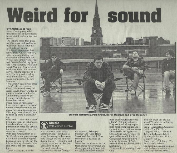 Weird Decibels and the Falkirk Herald