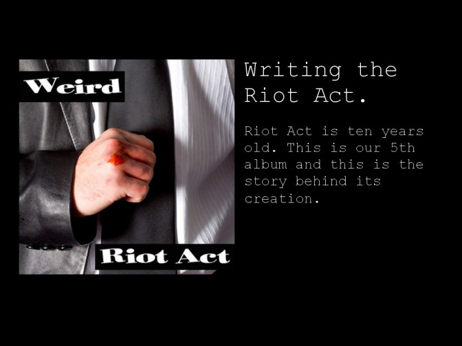 Riot Act is 10 (part 1 writing)